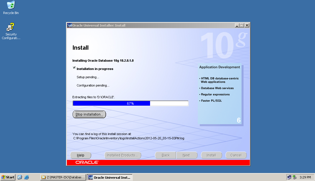 How to create spool file in oracle 10g