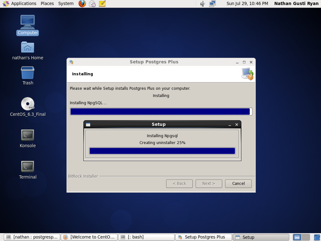 how to create database in postgresql in linux