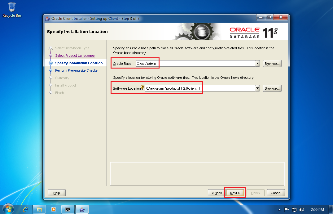 oracle client for 11g download