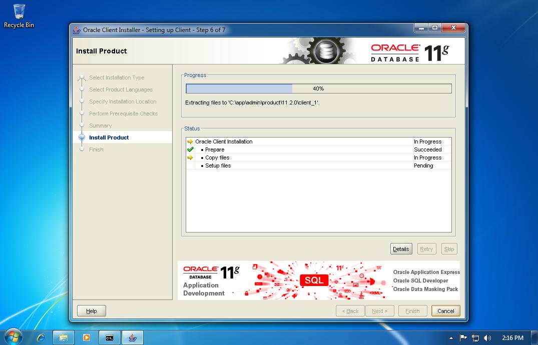 Install Oracle 11Gr2 Windows Xp - morestandard