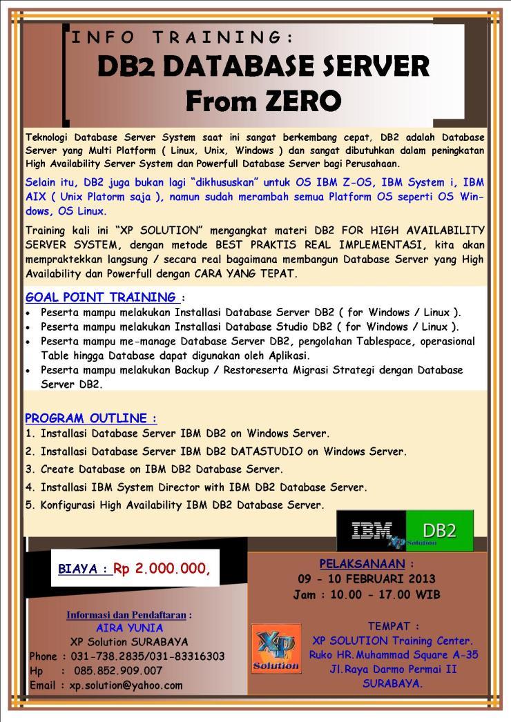 Brosur-Training-IBM-DB2-Database-Server-from-Zero-09-10-Februari-2013