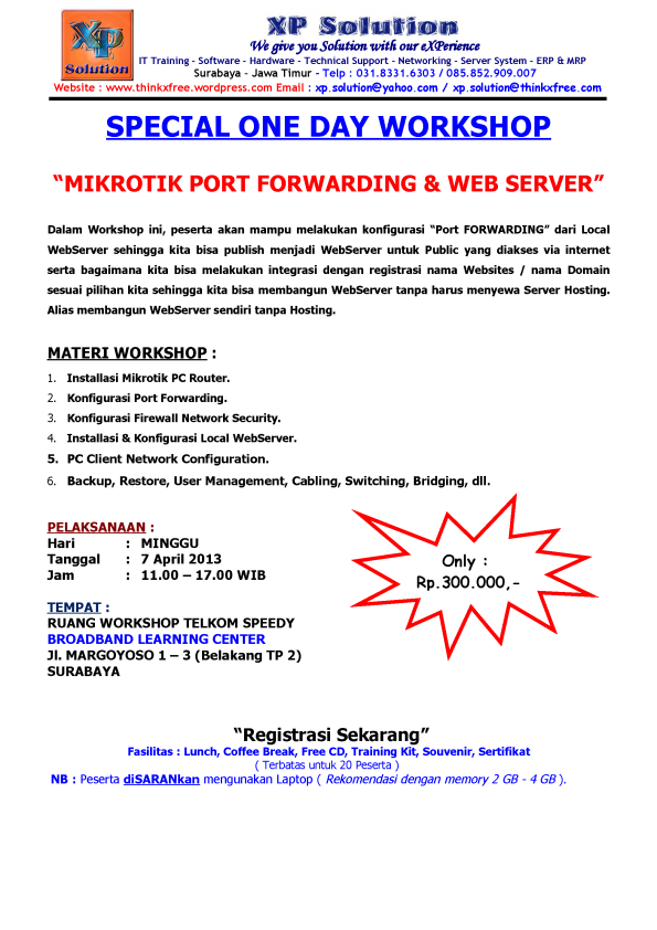 Special-One-Day-Workshop-Mikrotik-Port-Forwarding-and-Web-Server-April-2013