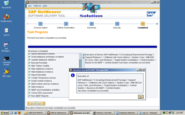 Install-SAP-on-W2K3-x64-System-Copy-035-Install-SAP-Success