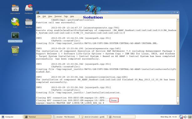 SAP-on-SLES-10-Install-046b-Finish-Success-Installation