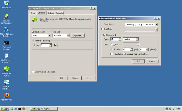 MySQL-Navicat-Database-Replication-017-secheduled-replication