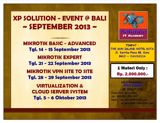 1-XP Solution Event @ BALI - SEPTEMBER 2013_Fix