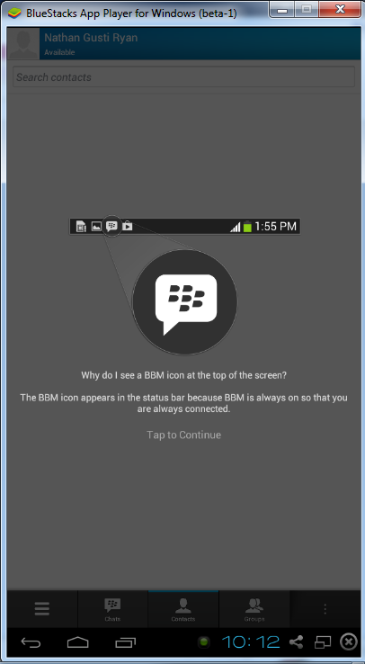 BBM-on-BlueStack-Android-App-Player-for-Windows-011