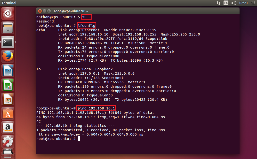 how to get dns ip address in ubuntu