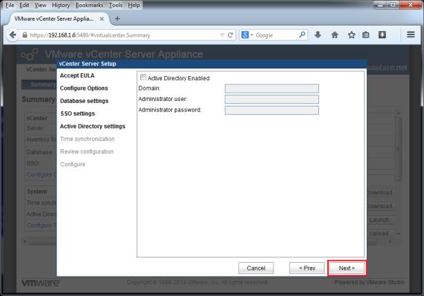 VMware-vCenter-Server-Appliance-5.5-007