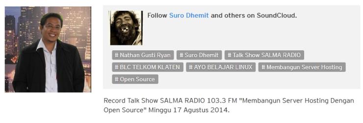 Membangun Server Hosting Dengan Open Source - Minggu 17 Agustus 2014