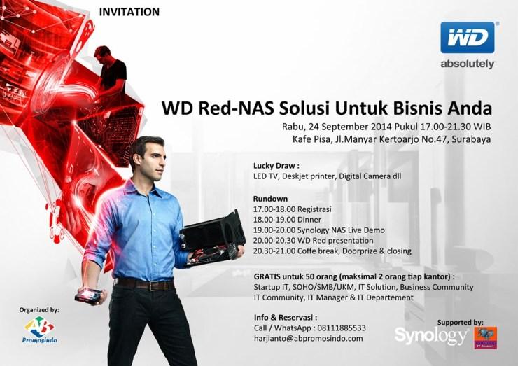 Invitation Free Seminar WD Red-NAS SMB Storage for Virtualization-Surabaya-24 Sept 2014