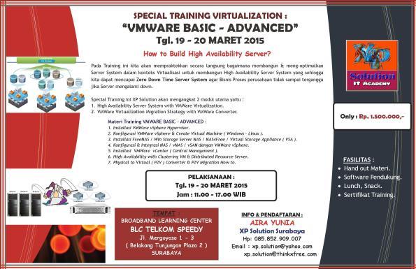 Special-Training--VMWare-vSphere--Virtualization-Basic-Advanced-[19-20-Maret-2015]