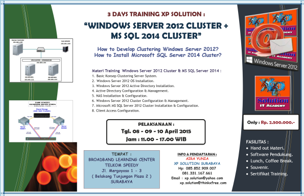 Brosur-Workshop-WINDOWS-SERVER-2012-CLUSTER+MS-Sql-2014-Cluster--08-09-10-April-2015