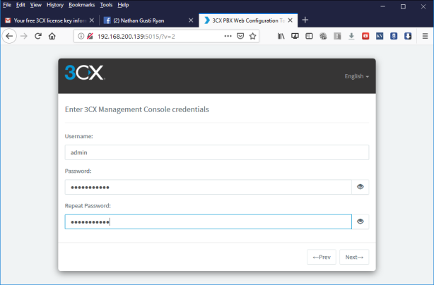 3cx Root Password